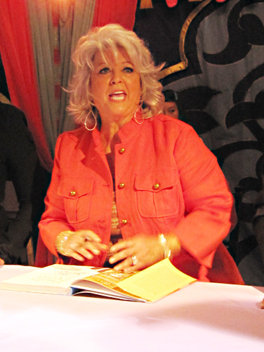 This photo of Paula Deen is attributed to lifescript (http://www.flickr.com/photos/35560790@N03/) and used under a Creative Commons License.